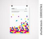 a4   a3 format poster design... | Shutterstock .eps vector #330032561