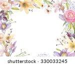 watercolor flowers  | Shutterstock . vector #330033245