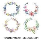 watercolor flowers  | Shutterstock . vector #330033284