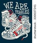 sneakers graphic design for tee | Shutterstock .eps vector #330037241
