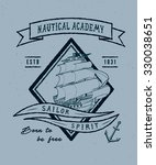 57 nautical academy. handmade... | Shutterstock .eps vector #330038651