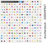 set of education stickers   Shutterstock .eps vector #330049967