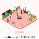 shopping mall concept.... | Shutterstock .eps vector #330053189