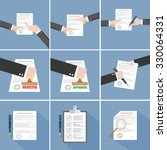 vector agreement icon   hand... | Shutterstock .eps vector #330064331