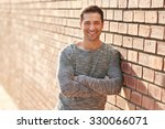handsome man with a friendly... | Shutterstock . vector #330066071