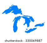 map of great lakes | Shutterstock .eps vector #330069887