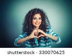 love. closeup portrait smiling... | Shutterstock . vector #330070625
