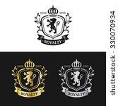 vector monogram logo template....   Shutterstock .eps vector #330070934