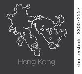a map of the country of hong... | Shutterstock .eps vector #330072557