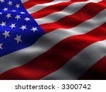 silky and wavy us flag | Shutterstock . vector #3300742