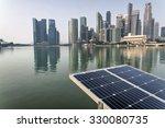 Solar Panel With Modern City...