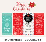vector christmas party... | Shutterstock .eps vector #330086765