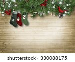 wooden vintage background with... | Shutterstock . vector #330088175