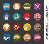 bakery icons  color. vector | Shutterstock .eps vector #330095294