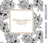 vintage delicate invitation... | Shutterstock .eps vector #330110249