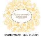 romantic invitation. wedding ... | Shutterstock .eps vector #330110804