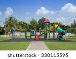 playground in the public park | Shutterstock . vector #330115595