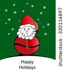santa   happy holidays | Shutterstock . vector #330116897