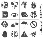 protection icons | Shutterstock .eps vector #330120995