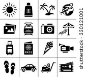vacation icons | Shutterstock .eps vector #330121001