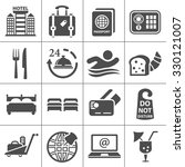 hotel icons   Shutterstock .eps vector #330121007