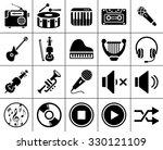 music icons | Shutterstock .eps vector #330121109