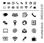 media and communication icons | Shutterstock .eps vector #330121115