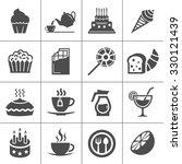 cafe  sweet  baked  desserts... | Shutterstock .eps vector #330121439