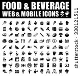food and beverage icons | Shutterstock .eps vector #330121511