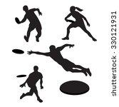 men playing ultimate 4... | Shutterstock .eps vector #330121931