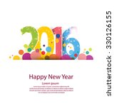 happy new year 2016 | Shutterstock .eps vector #330126155