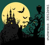halloween background vector | Shutterstock .eps vector #330126461