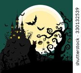 halloween background vector | Shutterstock .eps vector #330132539