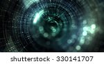 abstract particle with bokeh... | Shutterstock . vector #330141707