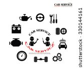 mechanic and car maintenance... | Shutterstock .eps vector #330144161