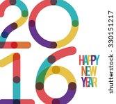 happy new year 2016 design ... | Shutterstock .eps vector #330151217