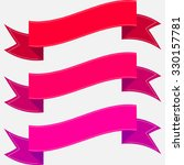 set of colorful isolated pink... | Shutterstock .eps vector #330157781