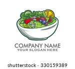 green salad vegetarian food... | Shutterstock .eps vector #330159389