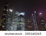 singapore   october 12th of... | Shutterstock . vector #330160265