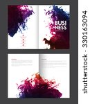creative professional two page... | Shutterstock .eps vector #330163094