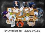 business people meeting... | Shutterstock . vector #330169181