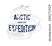 59 arctic expedition. handmade... | Shutterstock .eps vector #330171929
