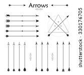 big set of different arrows.... | Shutterstock . vector #330176705