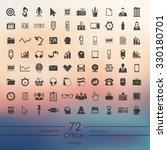 office modern icons for mobile... | Shutterstock .eps vector #330180701