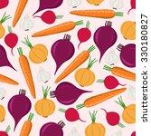 root vegetables. seamless...   Shutterstock .eps vector #330180827