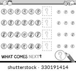 black and white cartoon vector... | Shutterstock .eps vector #330191414