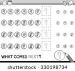black and white cartoon... | Shutterstock . vector #330198734