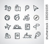 different transportation icons... | Shutterstock .eps vector #330201035
