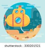 submarine under water concept... | Shutterstock .eps vector #330201521