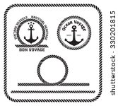 sailing badges with anchor and... | Shutterstock .eps vector #330201815